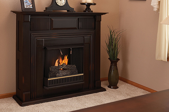 A fireplace that doesn't need to vent fumes outside. All electric and most gas fireplaces fall into this category.